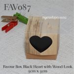 favour box black heart wood look 5cm square kraft rustic auckland nz