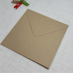 kraft envelopes square