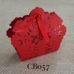 red wedding favour box