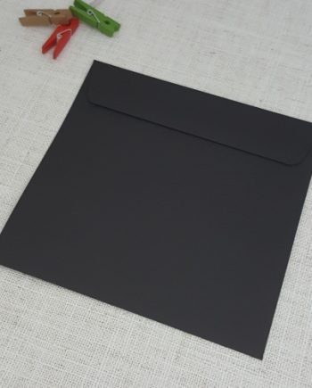 Black Matt 155 mm Square Envelopes Rectangle Flap My Envelopes Auckland NZ
