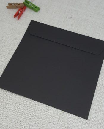 Black Matt 155 mm Square Envelopes Rectangle Flap My Envelopes Auckland NZ