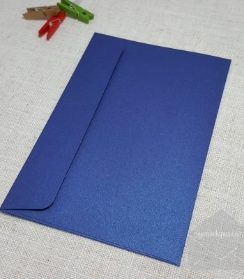 Blue Metallic 5x7 Envelopes Rectangle Flap My Envelopes Auckland NZ