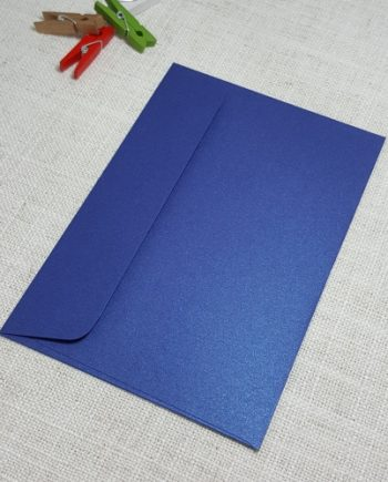 Blue Metallic C6 Envelopes Rectangle Flap My Envelopes Auckland NZ