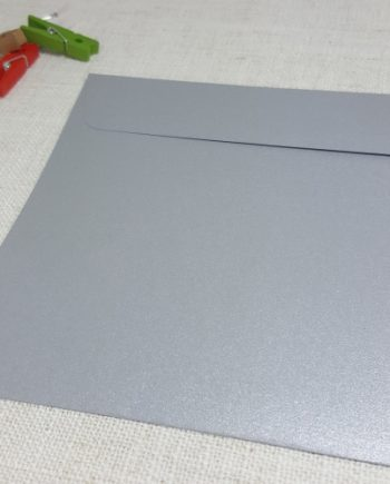Galvanised Silver Metallic 155 mm Square Envelopes Rectangle Flap My Envelopes Auckland NZ
