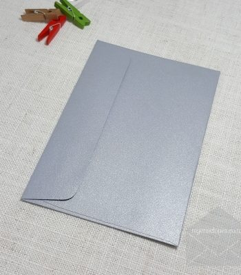 Galvanised Silver Metallic Envelopes C6 Rectangle Flap My Envelopes Auckland NZ
