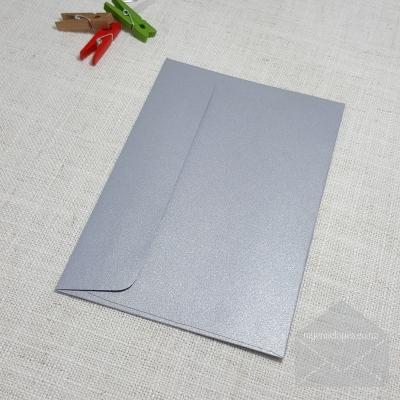 Galvanised Silver Metallic Envelopes C6 Rectangle Flap My Envelopes Auckland NZ