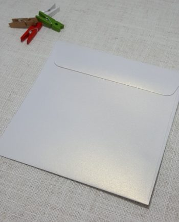 Ice Gold Metallic 155mm Square Envelopes Rectangle Flap