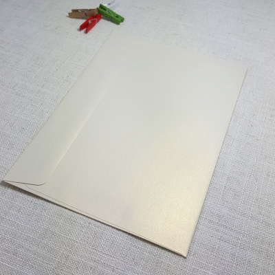 Ice Gold Metallic C5 Envelopes Rectangle Flap My Envelopes Auckland NZ