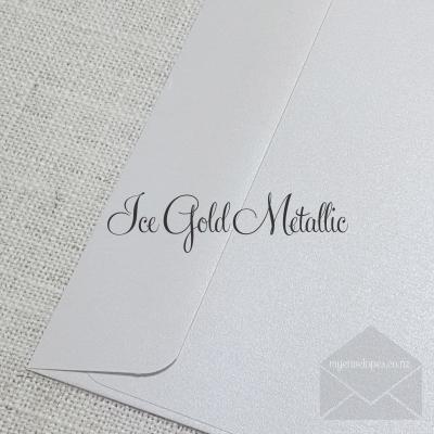 Ice Gold Metallic Rectangle Flap C7 My Envelopes Auckland NZ
