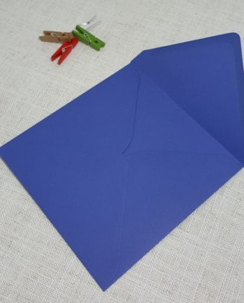 Iris Blue 155mm Square Envelopes Diamond Flap My Envelopes Auckand NZ