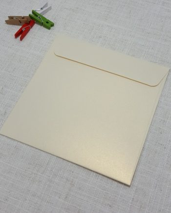 Ivory Gold Metallic 155mm Square Envelopes Rectangle My Envelopes Auckland NZ
