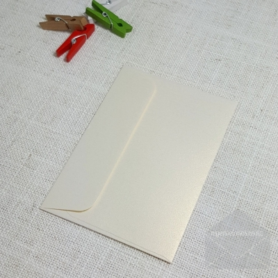 Ivory Gold Metallic C7 Envelopes Rectangle Flap My Envelopes Auckland NZ