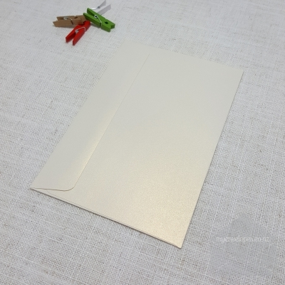 Ivory Gold Metallic 5x7 Envelope Rectangle Flap My Envelopes Auckland NZ