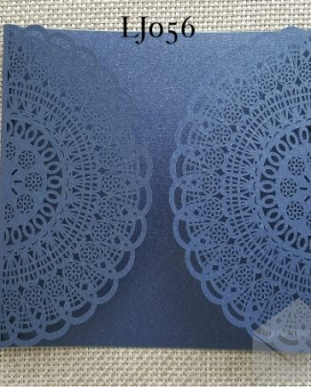 Z-LJ056 Blue Laser Cut Gatefold Wedding Invitation Cover My Envelopes Auckland NZ