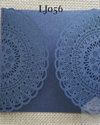 Z-LJ056 Blue Laser Cut Gatefold Wedding Invitation Cover My Envelopes Auckland NZ