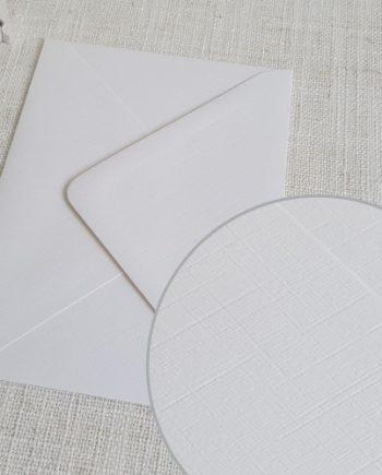 White Linen Textured C6 Envelopes Diamond Flap My Envelopes Auckland NZ