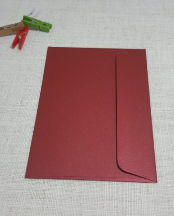 Red Metallic C6 Envelopes Rectangle Flap My Envelopes Auckland NZ