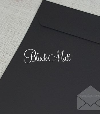 Black Envelopes 5x7 C6 C7 C5 DLE Rectangle Flap 120gsm
