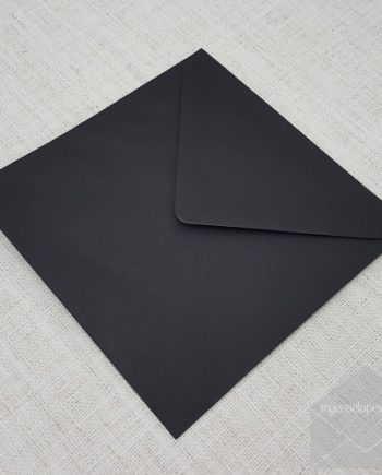Black Envelopes 155mm Square Diamond Flap my envelopes auckland nz