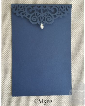 Z-CM502 Blue Rhinestone Lasercut My Envelopes Auckland
