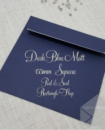 Dark Blue Envelopes Square 155mm My Envelopes Auckland NZ