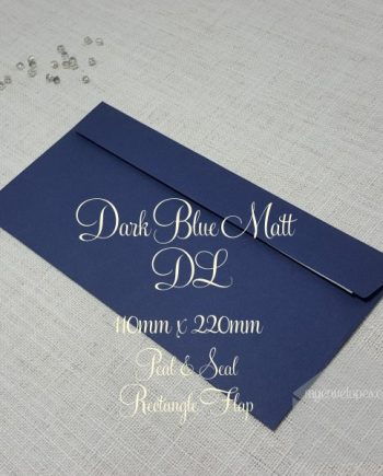 Dark Blue Envelopes DL Rectangle Flap - Peel & Seal My Envelopes Auckland NZ