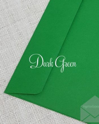 Dark Green Envelopes 5x7 Rectangle Flap My Envelopes Auckland NZ