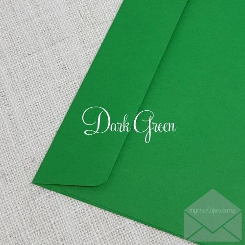 Dark Green Envelopes 5x7 Rectangle Flap My Envelopes Auckland NZ