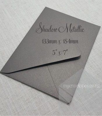 Shadow Metallic Envelope 5 x7 Diamond Flap