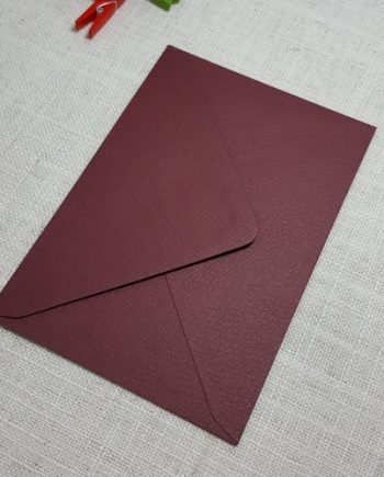 Deep Red Burgundy Textured C6 Envelopes Diamond Flap My Envelopes Auckland NZ