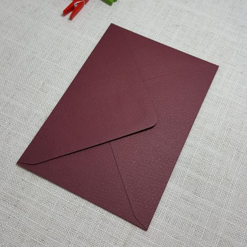 Deep Red Burgundy Textured C6 Envelopes Diamond Flap My Envelopes Auckland NZ