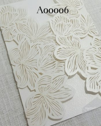 Z-A00006 Lasercut Flourish Ivory Gatefold Invitation Cover My Envelopes Auckland NZ