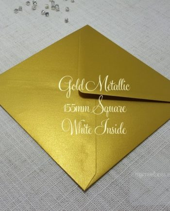 Gold Metallic Diamond Flap Envelopes ( white inside ) My Envelopes Auckland NZ