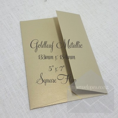 Goldleaf Metallic Envelopes 5x7 Square Flap My Envelopes Auckland NZ