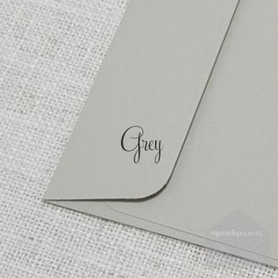 Grey 5x7 Envelope Rectangle Flap My Envelopes NZ