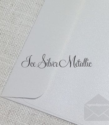 Ice Silver Metallic Envelopes 5x7 Rectangle Flap 120gsm My Envelopes Auckland NZ