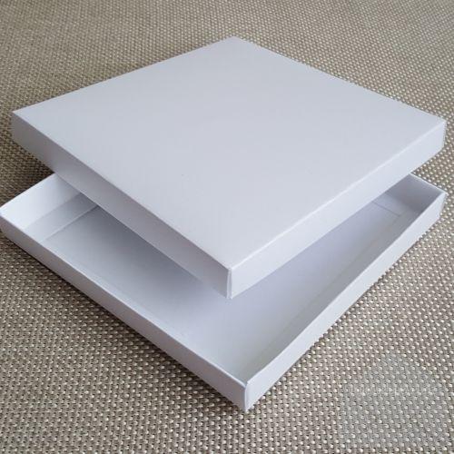 ZINVBOXW165 Wedding Invitation Box White Metallic 165mm Sq My