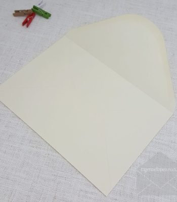 Ivory C5 Envelopes Diamond Flap 120gsm Envelope Size: 162mm  x 229mm Tropical Seal ( also known as Lick and Stick or Gummed )