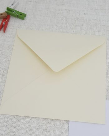 Ivory 155mm Square Envelopes Diamond Flap My Envelopes Auckland NZ