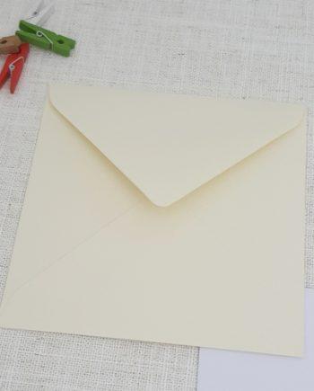 Ivory 155mm Square Envelopes Diamond Flap My Envelopes Auckland NZ