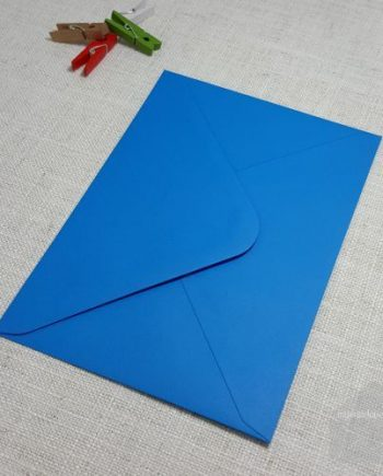Kingfisher Blue 5x7 Envelopes Diamond Flap My Envelopes Auckland NZ