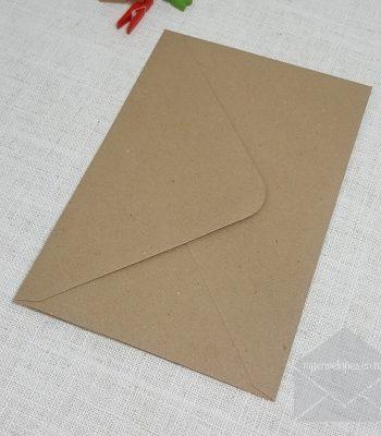 Kraft Envelopes Recycled Diamond Flap 152mm x 216mm