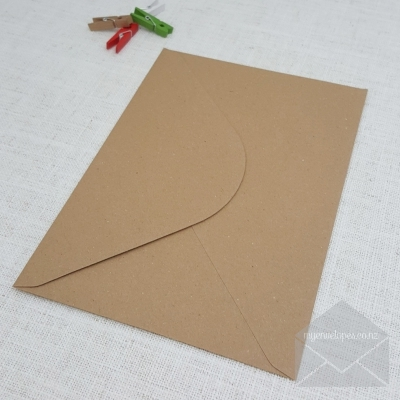 Kraft C5 Envelopes Diamond Flap Rustic Recycled