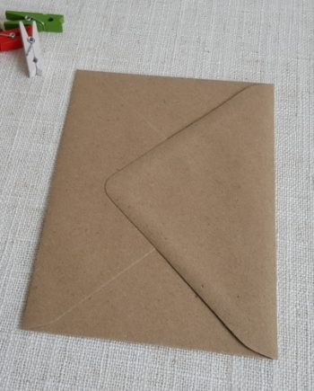 Kraft Recycled C6 Envelopes Diamond Flap My Envelopes Auckland NZ