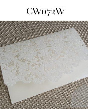 Z-CW072W White Pocket Lasercut My Envelopes Auckland