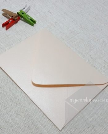 Light Pink Coral Envelopes A2 Metallic Diamond Flap