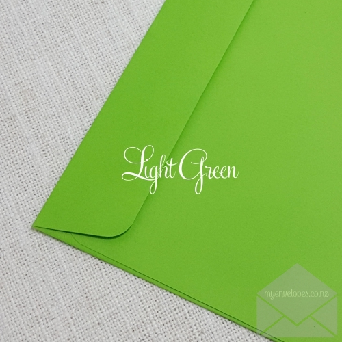 Light Green Envelopes 5x7 Rectangle Flap My Envelope Auckland NZ