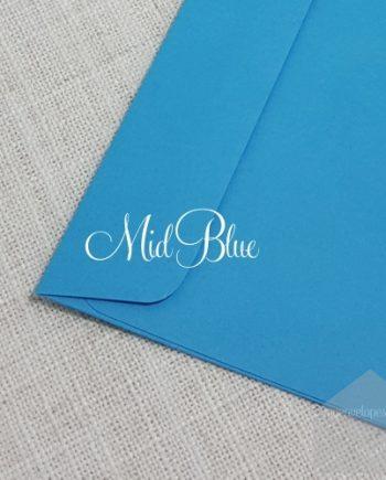 Mid Blue Envelopes 5x7 Rectangle Flap My Envelopes Auckland NZ