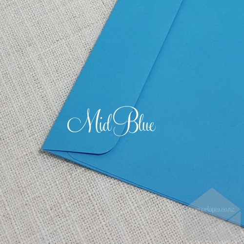 Mid Blue Envelopes 5x7 Rectangle Flap My Envelopes Auckland NZ