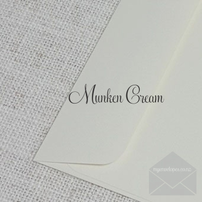 Munken Cream Envelope 5x7 Rectangle Flap My Envelopes Auckland NZ